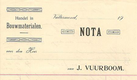 Vuurboom factuur ong. 1910